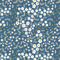 Ditsy Blue fabric by pattysloniger on Spoonflower - custom fabric