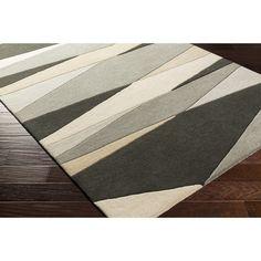 Zipcode Design Dean Hand-Tufted Gray/Beige Area Rug Rug Size: 12' x 15'