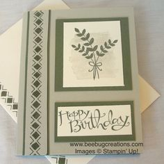 "Stampin' Up! Bohemian Borders, ""For All Things""  www.beebugcreations.com"