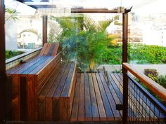 Sauna, Garden Bridge, Deck, Outdoor Structures, Outdoor Decor, Home Decor, New Houses, Bathing, Swimming Pools