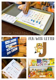 Letter J Learning Fun  #1plus1plus1 #letteroftheweek #letterJ #homeschool Letter J Activities, Hands On Activities, Preschool Activities, Reading Lessons, Reading Skills, Early Learning, Fun Learning, Read Letters, Letter Of The Week