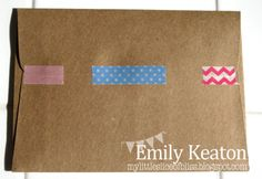 My Little Slice of Bliss: Ways With Washi: ENVELOPES, seal an envelope flap with washi tape