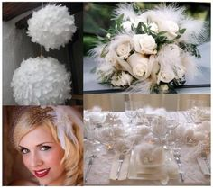 Feather for wedding decor inspiration by corinne