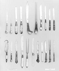 Knives in the Met.  All English?  Dated to the first quarter of the 17th century.