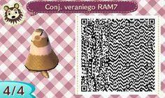 Este es un QR Code para Animal Crossing, creado por mí; como podéis observar, es un conjunto veraniego de color marrón. [4-4]  Lo podéis encontrar en mi canal de YouTube: https://www.youtube.com/channel/UCh6uwa2CjSgR4WQ-ghRQY6Q (Roxy).  ¡Espero qué os guste! ;)