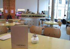 Probably our favourite place in Berlin : KW's Café Bravo in Auguststrasse, an architectural masterpiece.