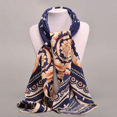 Printed Floral Scarf/Headscarf     Tag a friend who would love this!     FREE Shipping Worldwide     Get it here ---> https://www.accessory.sg/new-2016-women-scarf-100-twill-silk-euro-brand-flower-print-100cm100cm-square-scarf-female-muslim-headscarf-high-quality-shawl/    #womensdenim