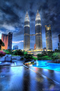Petronas Tower - Kuala Lumpur, Malaysia - we were there in 2011, and stayed at the hotel directly next to the towers - breathtaking!