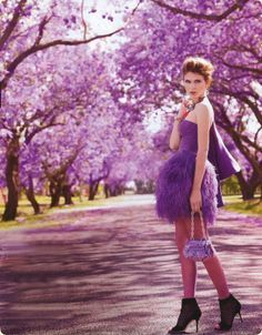 purple fashion photography