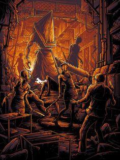 Silent Hill Video Game, Silent Hill Art, Dark Fantasy Art, Dark Art, Arte Horror, Dan Mumford, Pyramid Head, Horror Video Games, Horror Artwork