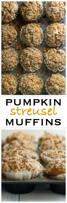 Pumpkin muffins with a crunchy streusel topping | Foodness Gracious