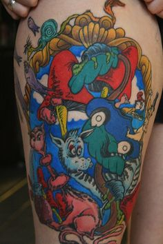 Flavorwire: Amazing Tattoos Inspired by Children's Books