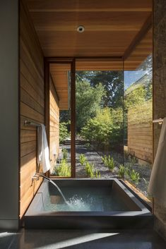 Midcentury Modern in Northern California An onsen, or Japanese soaking tub, with a private garden abuts the master suite.Modern Times Modern Times may refer to modern history. Modern Times may also refer to: Japanese Bathroom, Japanese Soaking Tubs, Japanese Bath House, Japanese Modern House, Japanese Sauna, Japanese Soaker Tub, Modern Zen House, Japanese Shower, Traditional Japanese House