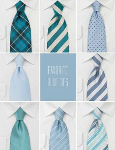 favorite blue ties for bridegroom