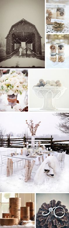#White and Brown Rustic Winter Wedding#Garden Wedding ... Wedding ideas for brides, grooms, parents & planners ... https://itunes.apple.com/us/app/the-gold-wedding-planner/id498112599?ls=1=8 … plus how to organise an entire wedding, without overspending ♥ The Gold Wedding Planner iPhone App ♥