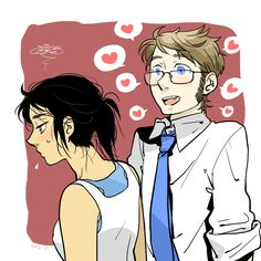 Chell & human Wheatley