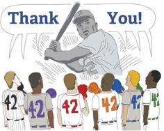 Today, we celebrate Jackie Robinson. April 15, 2012.