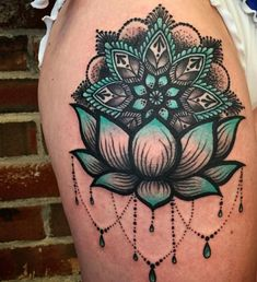 55 Pretty Lotus Tattoo Designs For Creative Juice-Floral tattoos are always very popular among women. Today, we are talking and sharing tons of pretty lotus flower tattoos with you!Lotus tattoos are some of the most popular tattoo designs out there not on Cool Shoulder Tattoos, Shoulder Tattoos For Women, Mandala Tattoo Shoulder, Cover Up Tattoos For Women, Thigh Tattoos For Women, Beautiful Tattoos For Women, Mandala Tattoo On Back, Female Thigh Tattoos, Female Chest Tattoo