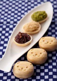 Scottish Fold Cat bean jam‐filled wafers   スコティッシュもなかちゃん