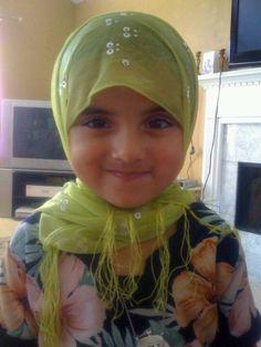Cute baby Imaan with hijab!
