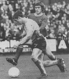 March Leicester City full back David Nish attempting to tackle Watford winger Stewart Scullion, at Filbert Street. Class Games, Watford, Leicester, Premier League, March, David, Football, City, English
