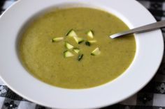 Cold Zucchini Potato Soup (with a hint of lemon); Delicious, healthy and vegan
