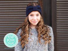 Turban Knitted Headband, Navy Blue Headband, Knit Head Wrap, Knitted Ear Warmer, Turband Knit Hat Hair Wrap - pinned by pin4etsy.com