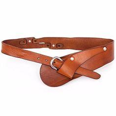 LONFENNE Women s Belt leisure head layer leather decorative fashion belt e81731567e