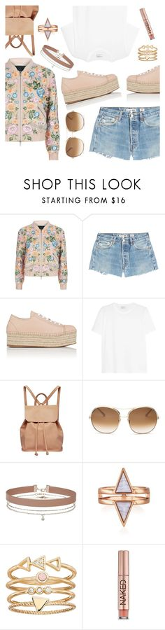"""""""Daily Look"""" by dressedbyrose ❤ liked on Polyvore featuring Needle & Thread, RE/DONE, Miu Miu, Yves Saint Laurent, Urban Originals, Chloé, Miss Selfridge, LC Lauren Conrad, Urban Decay and ootd"""