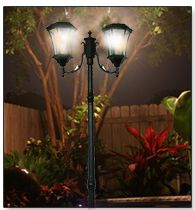 Whether you are just relaxing on the patio or throwing a party, a victorian lamp post is a great way to capture beauty in your yard.