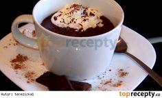 Home made hot chocolate with chilli. Cooking Recipes, Healthy Recipes, Healthy Food, Hot Chocolate, Vodka, Smoothies, Pudding, Sweets, Homemade