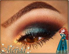 Disney Bounding With The Disney Fashionista- The Marvelous Merida - Make Up Disney Eye Makeup, Disney Inspired Makeup, Disney Princess Makeup, Clown Makeup, Costume Makeup, Makeup Art, Halloween Makeup, Beauty Makeup, Makeup Ideas