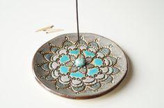 Mandala Incense Holder Incense Stick Burner Incense Bowl by bemika