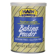 Shop the best Hain Pure Foods Featherweight Baking Powder 8 oz Can products at Swanson Health Products. Trusted since we offer trusted quality and great value on Hain Pure Foods Featherweight Baking Powder 8 oz Can products. Paleo Coffee Cake, Gluten Free Coffee Cake, Streusel Coffee Cake, Gluten Free Cakes, Gluten Free Baking, Pureed Food Recipes, Gourmet Recipes, Baking Powder Recipe, Caramel Apple Crumble