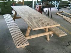 Bamboo garden table
