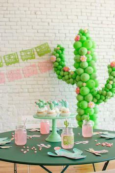 cutest Cinco de Mayo celebration! ...with DIY cactus cupcake topper tutorial