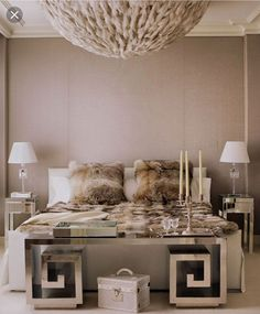 Living Room with Mirrored Furniture. Living Room with Mirrored Furniture. Mirrored Furniture for Living Room Art Living Room with Modern Bedroom Design, Master Bedroom Design, Home Decor Bedroom, Bedroom Designs, Bedroom Ideas, Wall Paper Bedroom, Glam Bedroom, Bedroom Images, White And Silver Bedroom