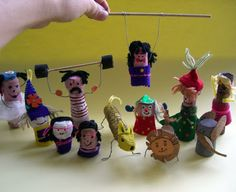 calder's circus figures made by kids