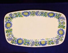 "Tor Viking Turi Design Figgjo Flint Mid Century Vintage 11 1/4"" Serving Platter"