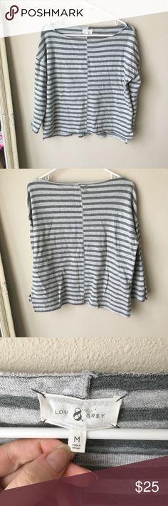Lou & grey striped sweater Good condition Lou & Grey Sweaters Crew & Scoop Necks