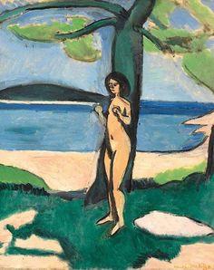 Henri Matisse - Nu au bord de la mer, 1909.