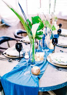 Luxe Tropics Dinner Party Adult Birthday Party30th
