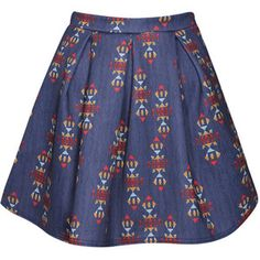 navajo skirt | skirts knee length skirts patsy navajo print box pleat skater skirt