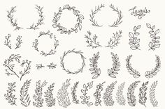 Whimsical Laurels & Wreaths Clip Art by The Pen & Brush on Creative Market