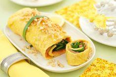 Omelett mit Spinat und Lachs