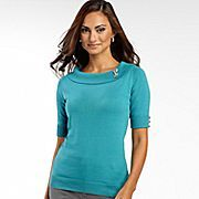 East 5th short sleeve pin embellished sweater from JC Penney.  Pretty colors, classic style.