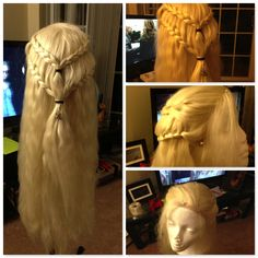 "Daenerys Wig by ~QueenToast on deviantART  This awesome wig was made from the ""Matilda"" from Arda Wigs"