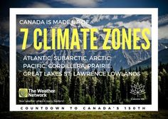 Which zone do you call home? Great 🇨🇦 fact 88/150 #Canada150 #Canadafacts #climate