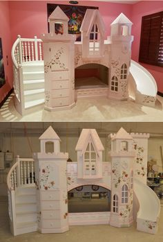 The Castle Vicari is the ultimate princess castle bunk bed. Your little princess will absolutely love living here! Want kind of features does the Vicari offer? Click to find out!