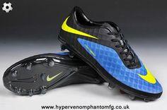more photos 5d0e4 83b15 New Phantom FG (Blue Volt Black) Nike Hypervenom Soccer Cleats